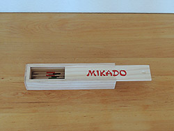 Mikado in Holzbox